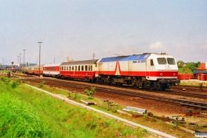 DB 240 002-6 med IC 827. Westerland 15.06.1991.