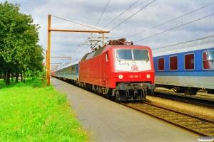 DB 120 115-1 med IP 2185 Fh-Hannover Hbf. Padborg 11.09.1997.