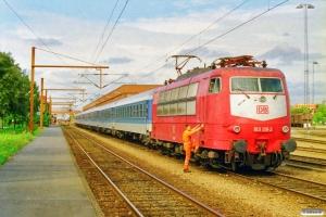 DB 103 139-2 med stammen til IP 2087 Pa-Hannover Hbf. Padborg 11.09.1997.