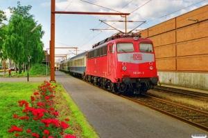 DB 110 476-9+Bn+ABm+BDms+110 451-2 som RE 35094 Flensburg-Pa. Padborg 08.07.1999.