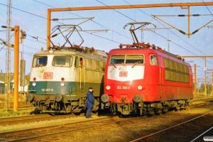 DB 110 387-8 - Lok fra IP 13284 og 103 186-3 - Lok fra IP 13274. Padborg 30.01.2000.