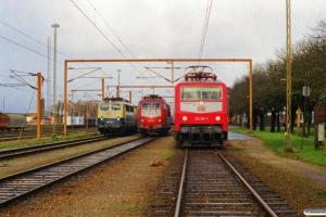 DB 140 441-7 med G 43763, DB 103 107-9 - Lok fra IP 13274 og DB 120 156-5 med IP 2181 Fa-Hannover Hbf. Padborg 13.02.2000.