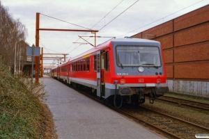 DB 628 217-2+928 217-9+628 215-6+928 215-3 som RE 35080 Neumünster-Pa. Padborg 11.04.2001.