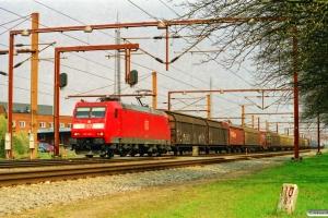 DB 185 060-1 med G 45717. Padborg 25.04.2003.
