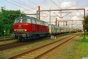 DB V 160 003+DSB MR/D 81+MR/D 39+MR/D 01 som DGS 90046 Pa-Neustrelitz Hbf. Padborg 14.08.2007.