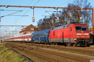 DB 101 080-0+11 personvogne som UEx 1273. Padborg 15.02.2008.