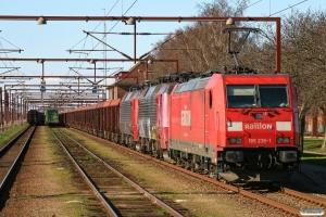 DB 185 239-1+RSC EA 3019+RSC EA 3017+40 DB Ealos-x som CFN 48787 Pa-München Nord Rbf. Padborg 10.04.2010.