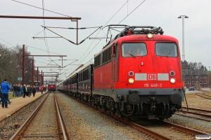 DB 115 448-3 med NF 13997 Pa-Venezia S. Lucia. Padborg 14.04.2013.