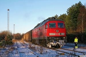 DB 232 583-5 med Tog 44753 Tdr-Maschen Rbf. Tønder 06.12.2012.