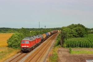 DB 232 669-2+232 472-1 med GD 138708 Tdr-Es. Km 42,6 Lk (Bramming-Tjæreborg) 20.07.2014.