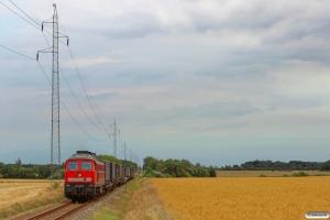 DB 232 568-6 med GD 138610 Tdr-Es. Km 57,0 Bm (Visby-Tønder Industrispor Nord) 04.08.2014.