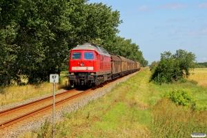 DB 232 469-7 med GD 47405 Tdr-Tdgr. Km 67,2 Bm (Tønder-Tønder Grænse) 18.07.2015.