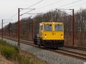 ENT 99 86 9281 413-5 (Trolje 413) som BM 350023 Fa-Rq. Km 57,4 Fa (Sommersted-Vojens) 29.01.2021.