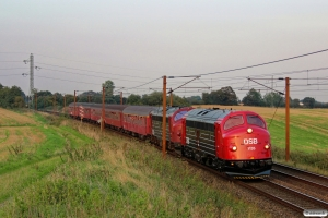 DSB MY 1135+MY 1159+A 000+Bk 016+B 188+BD 029+B 520 som VP 6369 Od-Fa. Km 170,0 Kh (Holmstrup-Tommerup) 06.09.2014.
