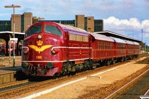 DSB MY 1101+CD 1210+CC 1132+AU 251+CB 1101 som M 6103 Ng-Od. Odense 02.09.1989.