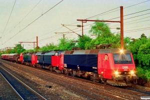 DSB EA 3008+MZ 1461+ME 1501+MH 385+Køf 272+Hims+B 2000+AX 303+AC 42+CC 1132 som MX 6381 Gb-Ro. Hvidovre Fjern 13.05.1994.