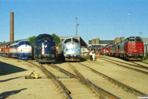 NJ M 11, SJ T41 204, DSB MY 1135, MY 1126, RDK MZ 1450, BDK MZ 1419, VL MX 103 og LJ M 38. Odense 14.08.2004.