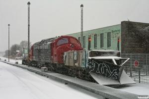 ENT Sneplov 134+DSB MY 1159+ENT Sneplov 133. Odense 02.02.2010.