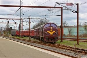DSB MX 1001+MO 1846+MS 401+AA 431+MS 402+Bc-t 317 som VM 8426 Rd-Od. Odense 09.04.2014.
