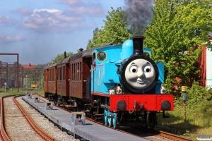 Llangollen Railway 1+OMB C 16+HHJ C 25+DSB FE 12140+DSB ME 35. Odense 17.05.2014.