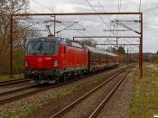 DSB EB 3210+WRm 603+S 001+EB 3209 som EP 8474 Vm-Kh. Årup 23.04.2021.