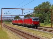 DSB EB 3212+EB 3222+EB 3224+EB 3223 solo som HM 6104 Te-Gb. Kauslunde 24.06.2021.