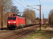 DBCSC EG 3102 med GD 36821 Mgb-Pa. Km 26,8 Fa (Kolding-Lunderskov) 30.03.2021.