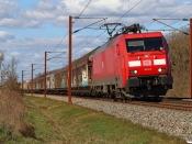DBCSC EG 3113 med GD 36519 Mgb-Pa. Km 63,0 Fa (Vojens-Rødekro) 24.04.2021.