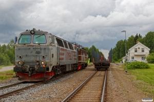 RCT TMZ 1405+NTA Ma 404 rangerer med EGt 8062 (Elverum-Kongsvinger). Braskereidfoss 16.06.2017.