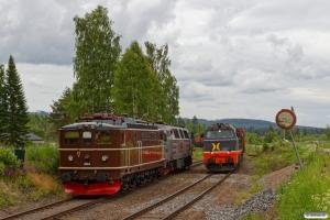 RCT TMZ 1405+NTA Ma 404 som EGt 8062 (Elverum-Kongsvinger) og HCTOR 941.001 med Gt 41613 (Kongsvinger-Hamar). Flisa 16.06.2017.