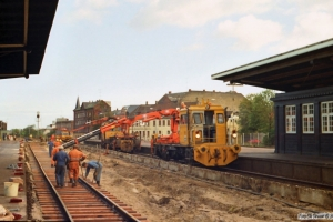 Sporombygning spor 5. Odense september eller oktober 1983.