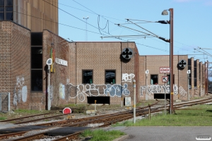 Sporene til den tidligere postterminal i Odense 16.04.2015.