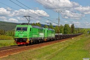 GC Re 1426+Re 1438 med GT 9103. Långsele - Helgum 14.06.2017.