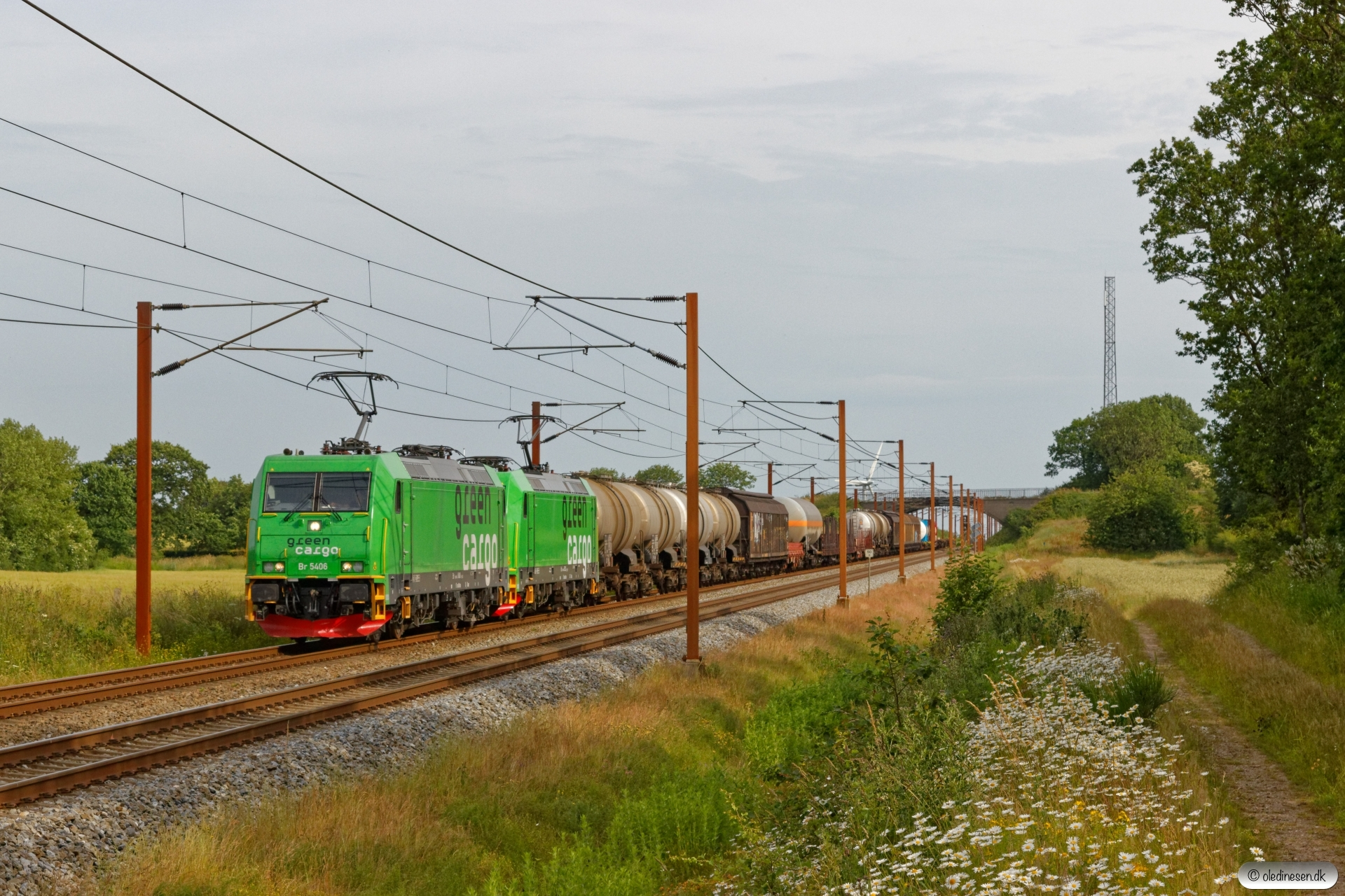 GC Br 5406+Br 5332 med NX 46261 Mgb-Pa. Km 50,0 Fa (Farris-Sommersted) 25.06.2019.
