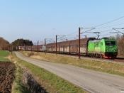 GC Br 5332 med NG 46256 Pa-Mgb. Km 195,4 Kh (Ejby-Nørre Åby) 30.03.2021.