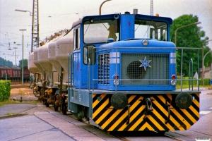 Dyckerhoff Lok 1 (Henschel 30626/1966). Lengerich 10.07.1989.