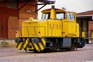 Lübecker Hafen-Gesellschaft (DHG) Lok (MaK 220080/1965). Lübeck 12.08.1989.