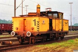Hansaport Lok 1 (Windhoff 130484/1/1976). Hamburg-Altenwerder 11.05.1990.