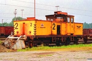 Hansaport Lok 2 (Windhoff 130484/2/1976). Hamburg-Altenwerder 11.05.1990.