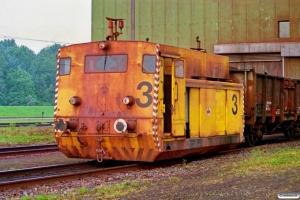 Hansaport Lok 3 (Vollert 77/107/1978). Hamburg-Altenwerder 11.05.1990.