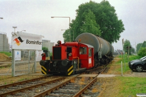 Railtec Eisenbahntechnik Køf (ex. DB 323 188-3) udlejet til Bominflot. Hamburg-Waltershof 15.06.2007.