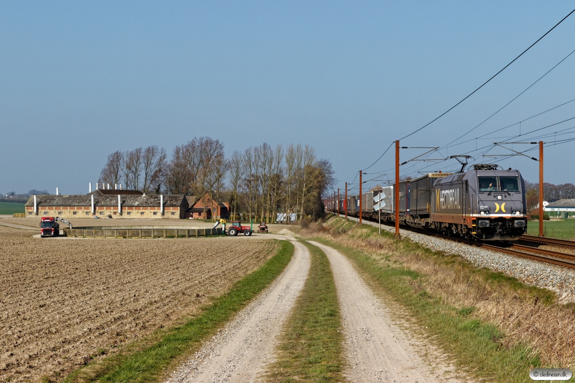 HCTOR 241.001 med HS 63210 Pa-Mgb. Km 193,0 Kh (Gelsted-Ejby) 30.03.2019.