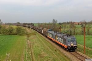 HCTOR 241.001+241.011 med HG 34675 Mgb-Pa. Km 54,4 Fa (Sommersted-Vojens) 17.04.2014.