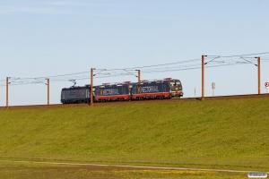TXL 185 407-4+HCTOR 243.116+243.115 som HM 35328 Pa-Mgb. Km 128,2 Kh (Sprogø-Nyborg) 06.05.2018.