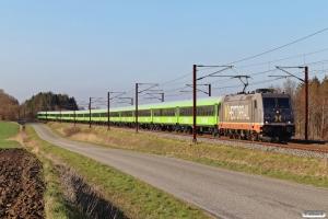 HCTOR 241.003+15 FlixTrain personvogne som HM 8140 Pa-Htå. Km 195,4 Kh (Ejby-Nørre Åby) 30.03.2021.