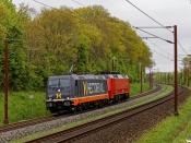 HCTOR 241.009+DSB EA 3020 som HG 8151 Gb-Pa. Km 165,6 Kh (Odense-Holmstrup) 15.05.2021.