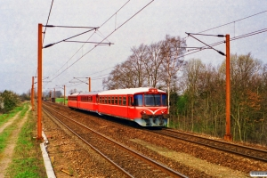 HHJ Ym 35+Ys 48+Ys 46 som M 6103 Ng-Ar. Hjulby 22.04.1995.