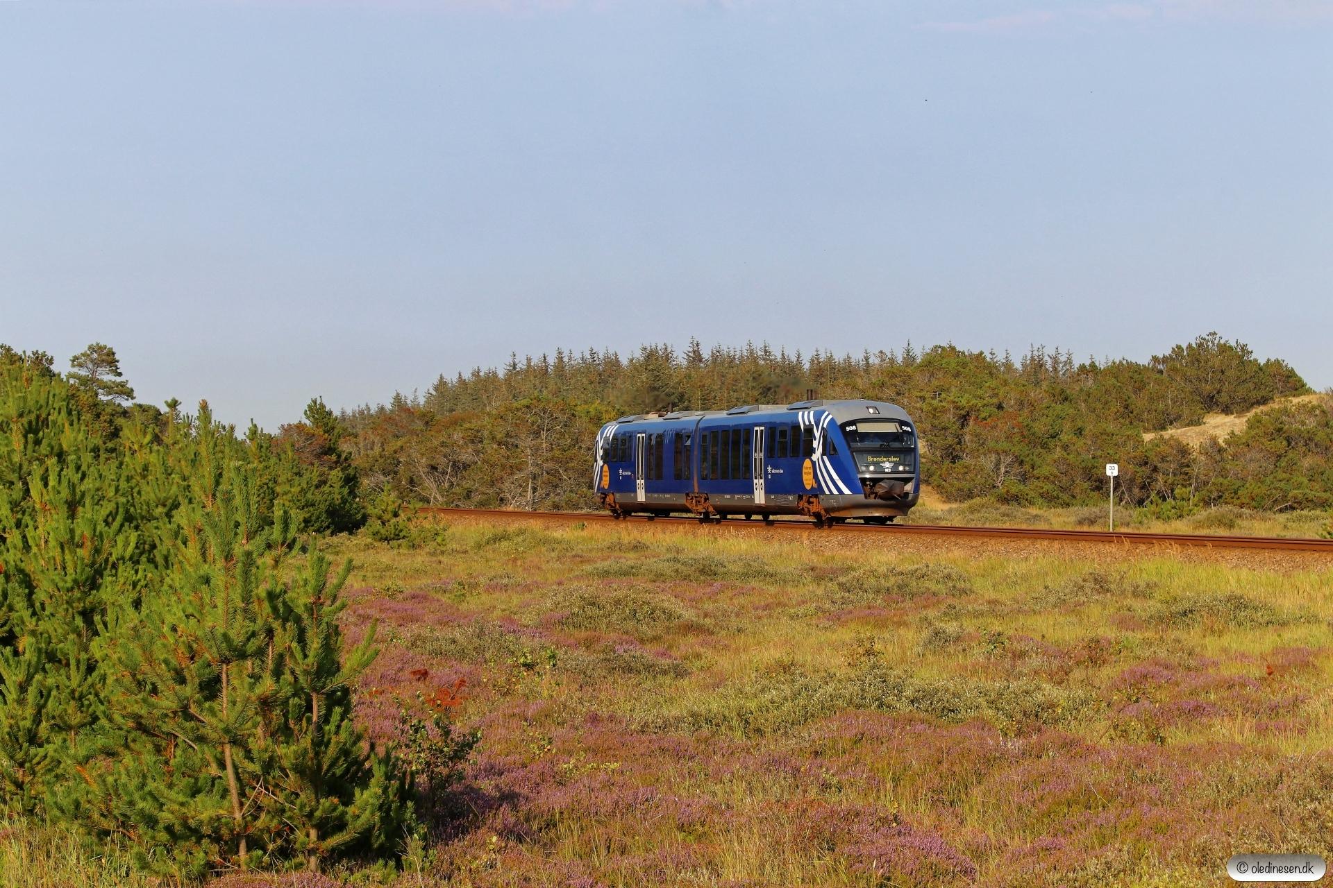 NJJ Dm 578+548 som PP 142154 Sgb-Fh. Frederikshavnsvej - Hulsig 16.08.2020.