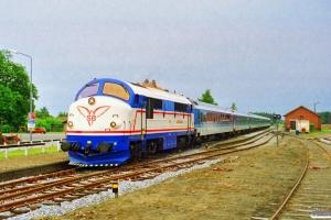 SB M 9+DB Bimdz+Bimz+Bimz+ARKimbz+Bimz+Bimz som Tog 506 Fh-Sgb. Ålbæk 27.06.1997.