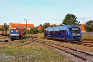 NJJ T 52 og Dm 571+541 som Tog 15 Sgb-Fh. Skagen 25.09.2013.